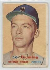 1957 Topps #338 Jim Bunning Detroit Tigers RC Rookie Baseball Card