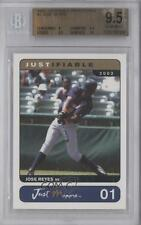 2002 Just Minors Justifiable Prototypes 01 Jose Reyes BGS 9.5 New York Mets Card