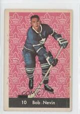 1961-62 Parkhurst #10 Bob Nevin Toronto Maple Leafs Hockey Card