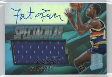 2013-14 Panini Spectra Spectacular Swatch Signatures Light Blue 5 Fat Lever Auto