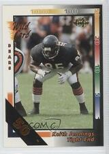 1992 Wild Card 50 Stripe #399 Keith Jennings Chicago Bears Rookie Football