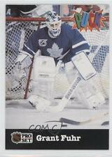 1991-92 Pro Set Puck #27 Grant Fuhr Toronto Maple Leafs Hockey Card