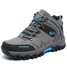 GOMNEAR Big Size Winter Fur Lined Trail Hiking Boots Non Slip Shock Absorb Shoes