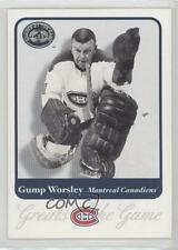 2001-02 Fleer Greats of the Game #88 Gump Worsley Montreal Canadiens Hockey Card