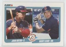 1990 Fleer 647 John Orton Scott Leius Minnesota Twins Los Angeles Angels RC Card