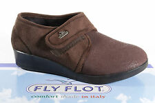 Fly Flot Women's House Shoes Pantoffe brown with Touch Fastener New
