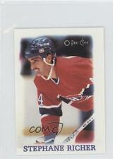 1988-89 O-Pee-Chee NHL Stars Mini Etoiles #31 Stephane Richer Montreal Canadiens