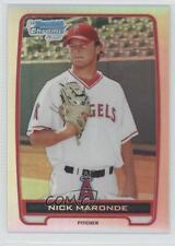 2012 Bowman Chrome Prospects Refractor #BCP31 Nick Maronde Los Angeles Angels
