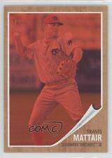 2011 Topps Heritage Minor League Edition Red Tint 166 Travis Mattair Rookie Card