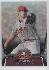 2012 Bowman Platinum Prospects Refractor #BPP25 Trevor May Philadelphia Phillies