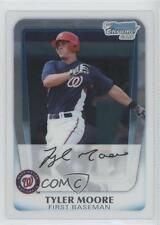 2011 Bowman Chrome Prospects BCP138 Tyler Moore Washington Nationals Rookie Card