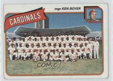 1980 Topps #244 St Louis Cardinals Team St. Baseball Card