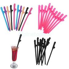 Lot of 10 Hen Night Party Accessories Novelty Willy Penis Drinking Straws