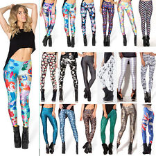 3D Graphic Printed Women Yoga Gym Skinny Fit Pencil Pants Punk Stretchy Legging
