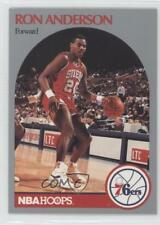 1990-91 NBA Hoops #224 Ron Anderson Philadelphia 76ers Basketball Card