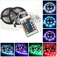 10M 2x5M 3528 SMD RGB 600LEDs LED Strip Lights Lamp & 24Key IR remote Controller
