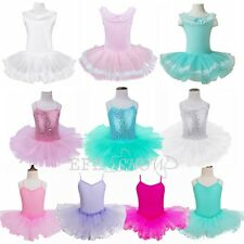 Toddler Girls Kids Child Ballet Gymnastics Leotard Tutu Dress Dance Wear Costume