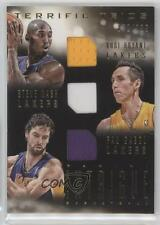 2013-14 Panini Intrigue Terrific Trios #14 Kobe Bryant Pau Gasol Steve Nash Card