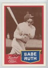 1989 CMC Limited Edition #12 Babe Ruth Boston Braves Baseball Card