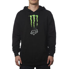 NEW FOX RACING BLACK MONSTER ENERGY ZEBRA PULLOVER HOODY HOODIE MENS ADULT GUYS