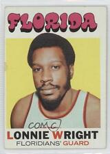 1971-72 Topps 206 Lonnie Wright Miami Floridians (ABA) RC Rookie Basketball Card