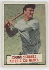 1961 Topps #405 Baseball Thrills: Gehrig Benched After 2130 Games (Lou Gehrig)