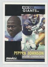 1991 Pinnacle #252 Pepper Johnson New York Giants Football Card