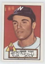 1983 Topps 1952 Reprint Series #123 Eddie Yost Washington Senators Baseball Card