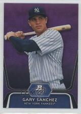 2012 Bowman Platinum Prospects Retail Purple Refractor #BPP38 Gary Sanchez Card