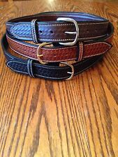 AMERICAN Hand Made Leather Basket Weave Work,Holster,Tool belt