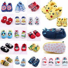 Toddler Infant Cartoon Crib Shoes Baby Girls Boys Soft Sole Slippers 0-18 Months