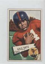 1952 Bowman Small #28 Kyle Rote New York Giants Rookie Football Card