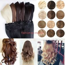 Real Thick 3/4 Full Head Clip In Hair Extensions Long Hairpiece 120g-200g Hair F