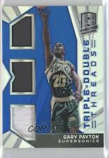 2014-15 Panini Spectra Triple-Double Threads Prizm #TD-GP Gary Payton Card