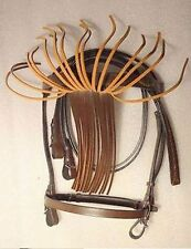 yesrd Leather Horse Spanish Bridle with Leather Rein - LSB-01