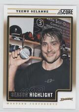 2012-13 Score Gold Rush #18 Teemu Selanne Anaheim Ducks (Mighty of Anaheim) Card