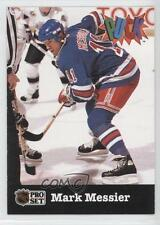 1991-92 Pro Set Puck #19 Mark Messier New York Rangers Hockey Card