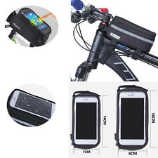 Bicycle Cycling Bike Frame Front Tube Waterproof Mobile Phone Touch Screen Bag