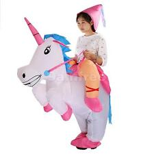 Inflatable Unicorn Fancy Dress Costume Hat Princess Hen Stag Outfit Adult Kids