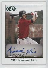 2010 TRISTAR Obak Autographs Green #A28 Jiovanni Mier Houston Astros Auto Card