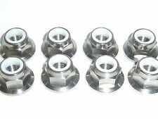 Ducati MONSTER 1000 400 620 800 S2R 900 916 TITANIUM FLANGED NYLOC SPROCKET NUTS