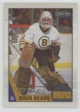 1987-88 O-Pee-Chee Blank Back #147 Doug Keans Boston Bruins Hockey Card