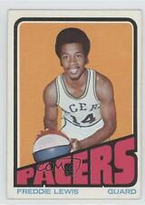 1972-73 Topps #219 Freddie Lewis Indiana Pacers Basketball Card