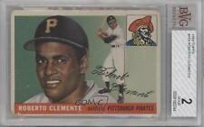 1955 Topps 164 Roberto Clemente BVG 2 Pittsburgh Pirates RC Rookie Baseball Card
