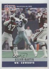 1990 Pro Set #83 Kelvin Martin Dallas Cowboys RC Rookie Football Card