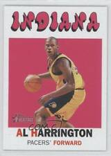 2000-01 Topps Heritage #63 Al Harrington Indiana Pacers Basketball Card