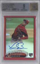 2012 Topps Chrome Rookie Autograph Red Refractor TB Trevor Bauer BGS 9 Auto Card