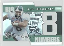 2002 Press Pass Big Numbers #BN8 TJ Duckett Michigan State Spartans T.J. Card