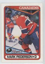 1990-91 O-Pee-Chee #82 Mark Pederson Montreal Canadiens RC Rookie Hockey Card