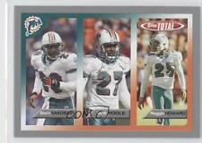 2005 Topps Total Silver #382 Sam Madison Will Poole Reggie Howard Miami Dolphins